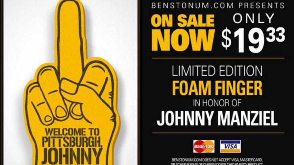 Steelers fans have already come up with a foam finger response for Johnny Manziel