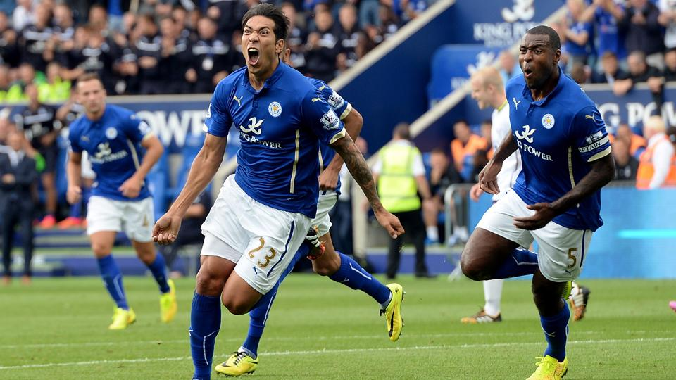 Leonardo Ulloa, left, and Leicester City stand a good shot at staying up based on both their roster and history.