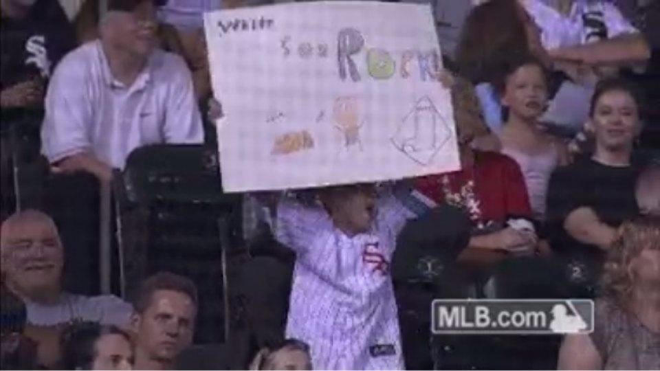 This young fan loves the White Sox almost as much as he loves to dance