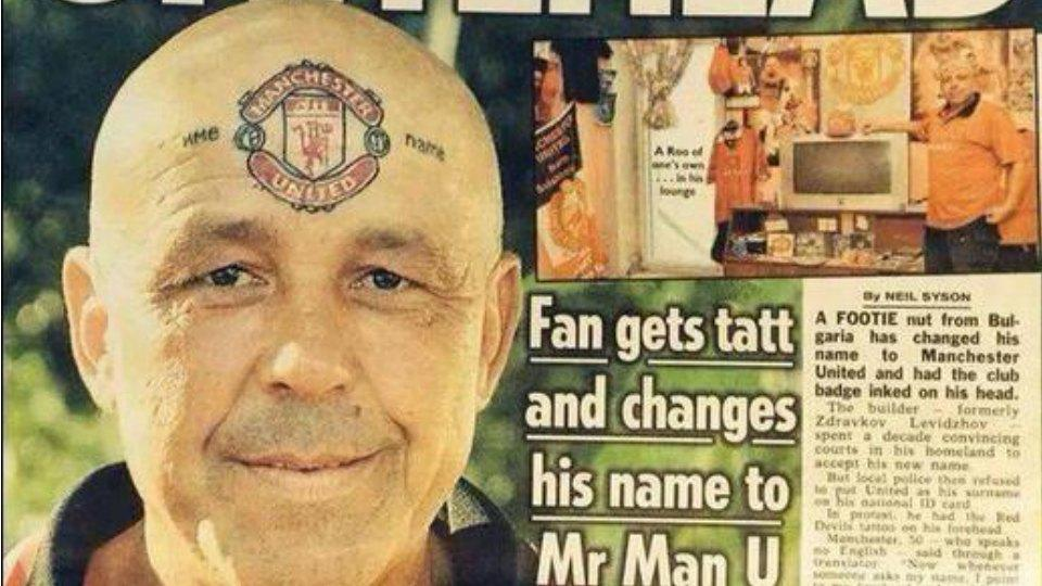 A fan changed his name to Mr. Manchester United and had the club crest tattooed on his forehead