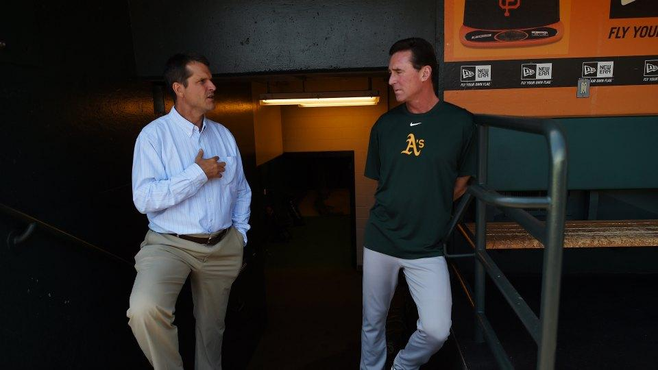 49ers coach Jim Harbaugh once peed his pants while waiting to get a baseball player's autograph