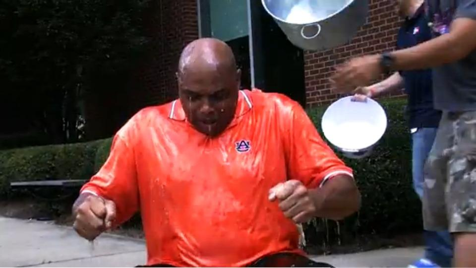 Charles Barkley has a great reaction to the Ice Bucket Challenge