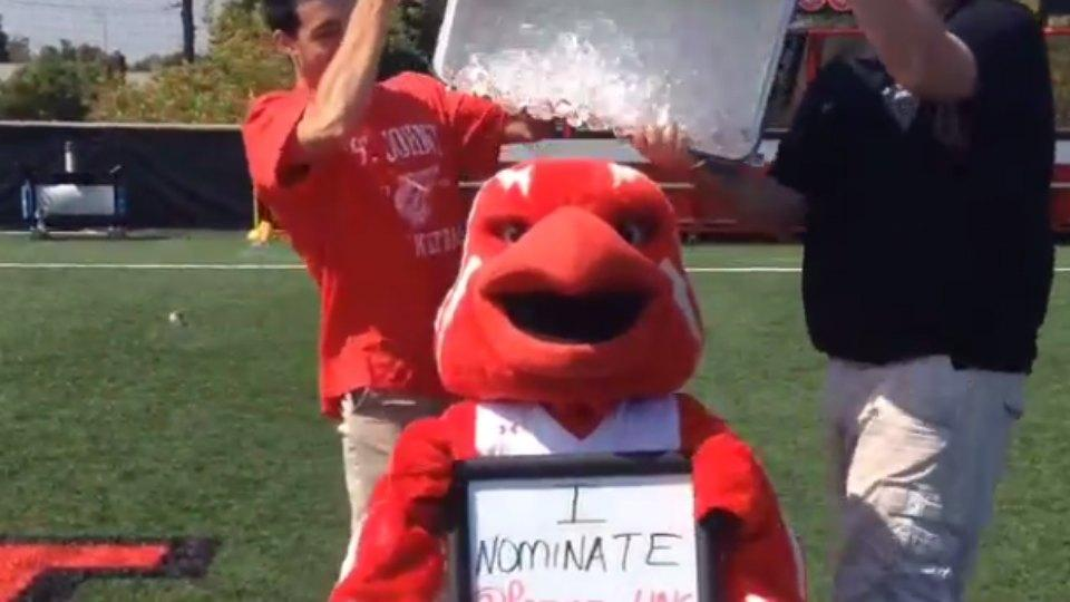 ALS Ice Bucket Challenge has spread to college mascots