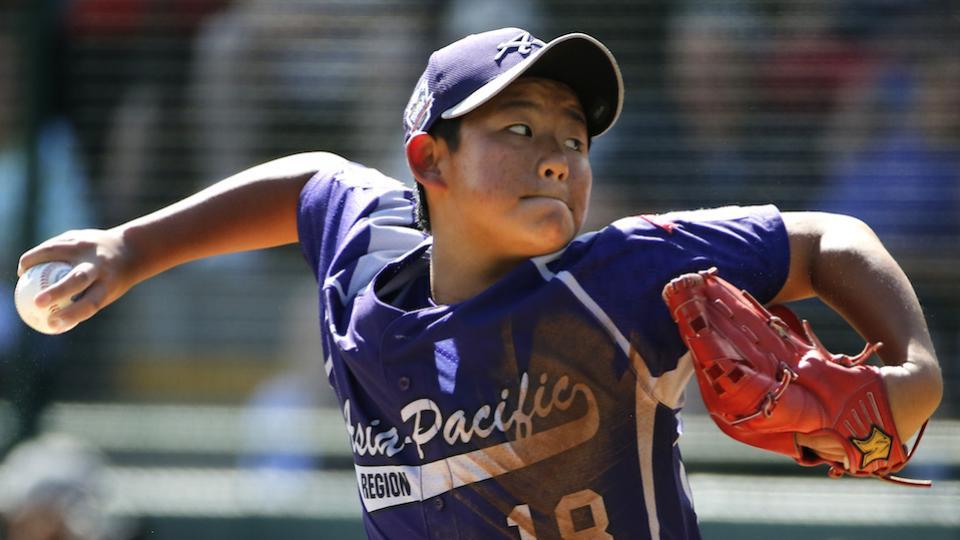 South Korea pitcher Jae Yeong Hwang