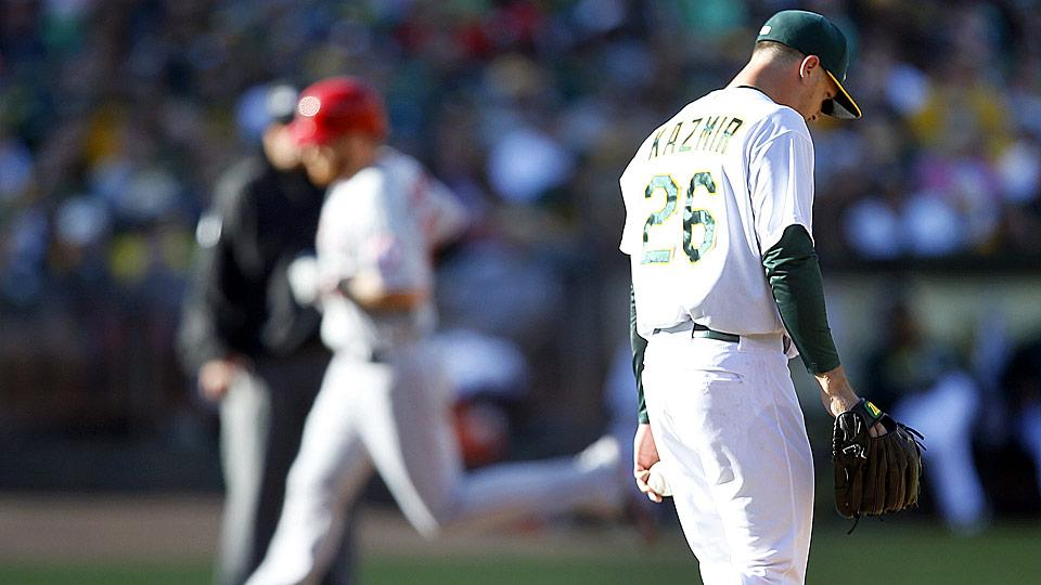 The A's failed to complete their sweep of the Angels on Sunday and reclaim sole possession of first place in the AL West. Can they stay healthy enough to compete?