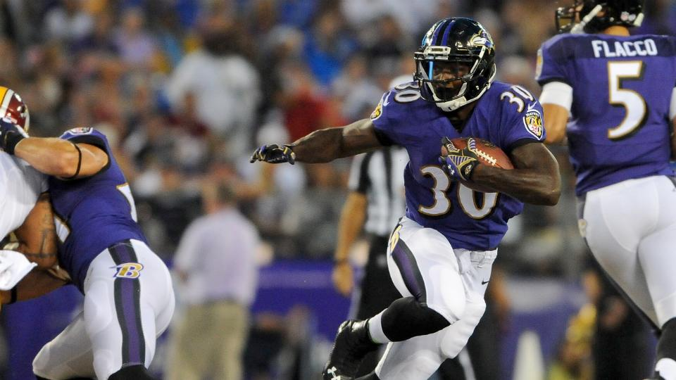 Ravens' Bernard Pierce says he's 'fine' after concussion testing