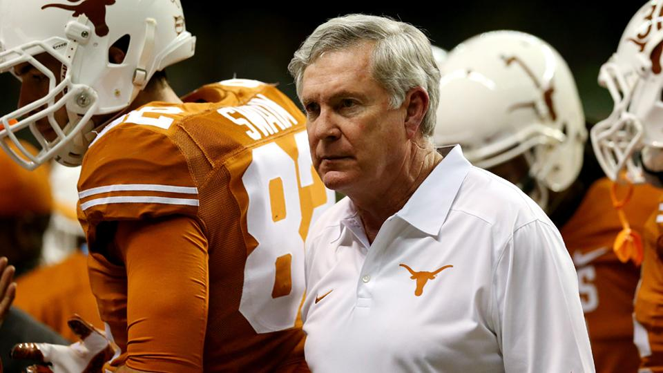 Mack Brown agrees with Charlie Strong not to talk Texas on ESPN