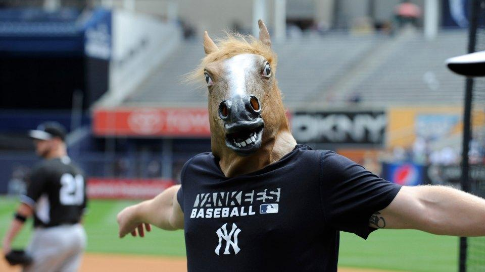 Yankees newest good luck charm is a terrifying horse mask