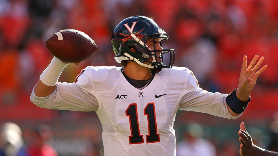 Redshirt sophomore Greyson Lambert will take over at quarterback for Virginia.