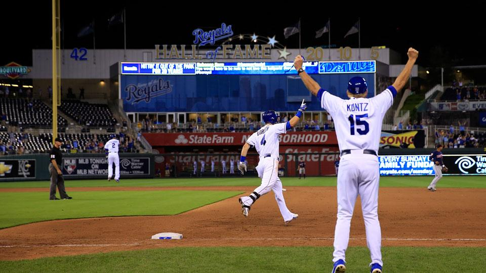 Only a little over 13,000 fans were on hand to see Alex Gordon hit a walk-off home run Tuesday night