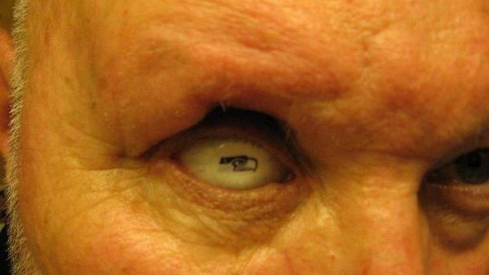 Seahawks fan has the team logo on his prosthetic eye