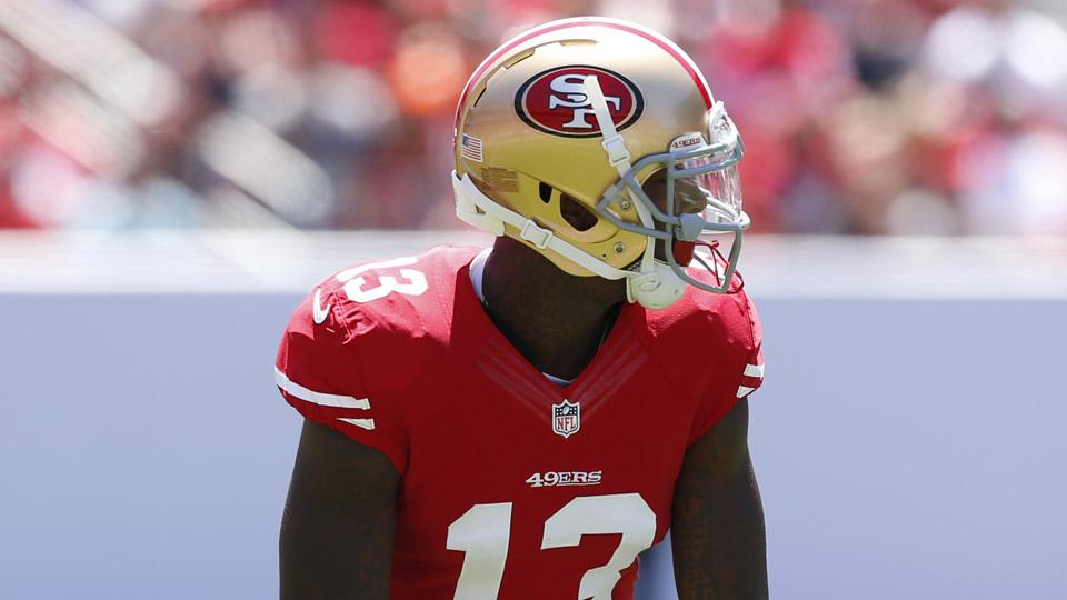 49ers' Kaepernick, Stevie Johnson say their connection isn't clicking yet