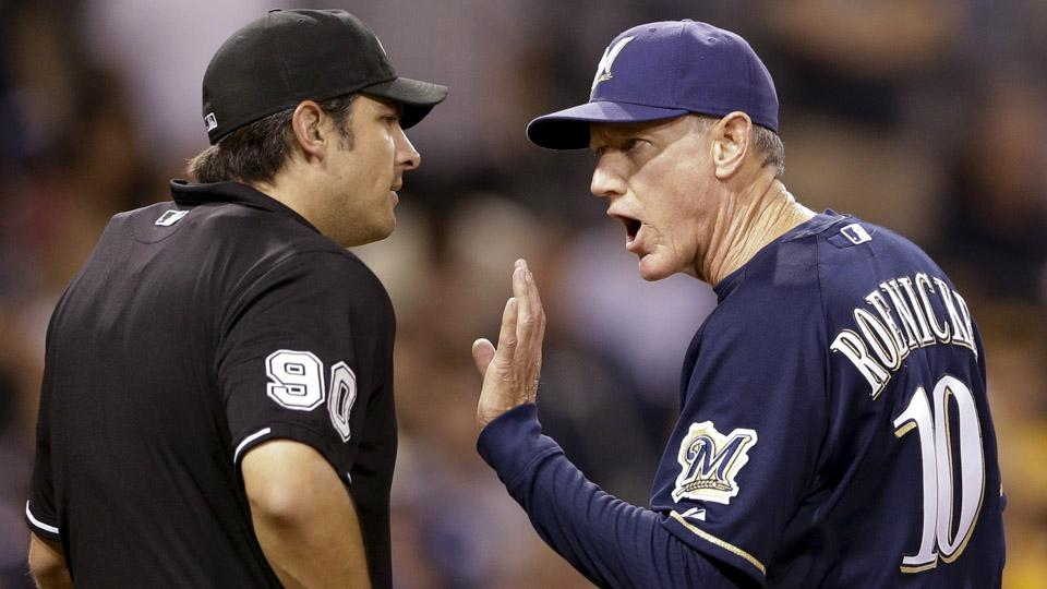 Brewers manager Ron Roenicke rips umpire after loss