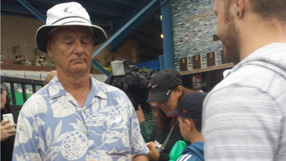 Bill Murray checked tickets at a minor league game in Minnesota