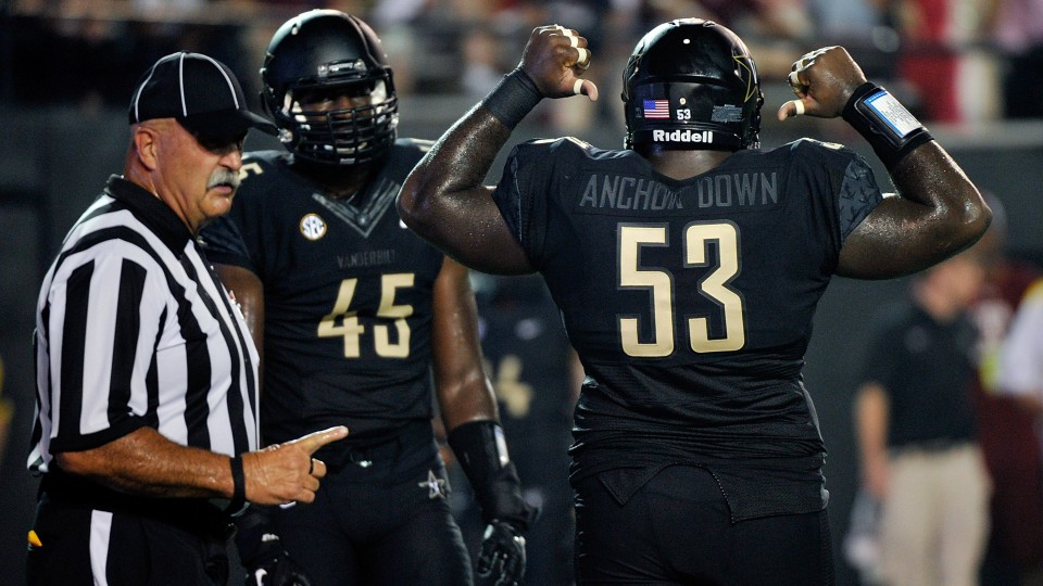 SEC statement says Vanderbilt's 'Anchor Down' jerseys were illegal