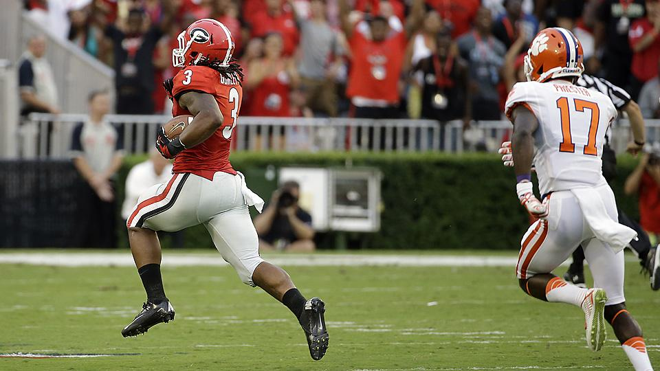 Following Todd Gurley's lead, No. 12 Georgia sinks No. 16 Clemson