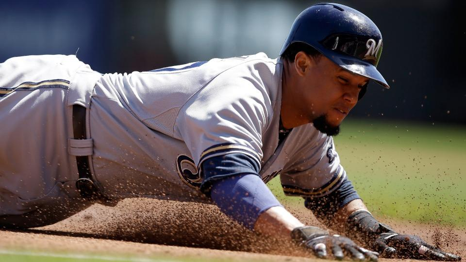 Brewers CF Carlos Gomez leaves Sunday's game with wrist soreness