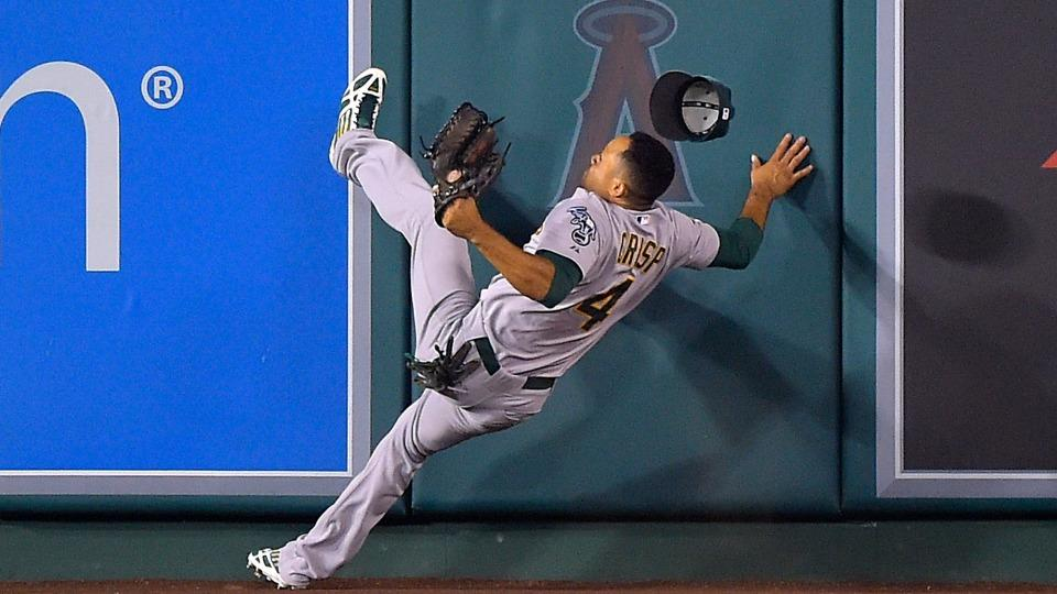 A's outfielder Coco Crisp out for a few days with neck strain