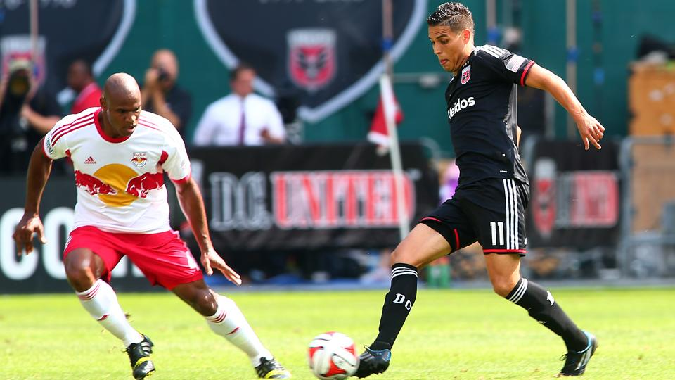 Luis Silva, right, and D.C. United got the best of Jamison Olave and the rival New York Red Bulls over the weekend, strengthening their lead in the MLS Eastern Conference.