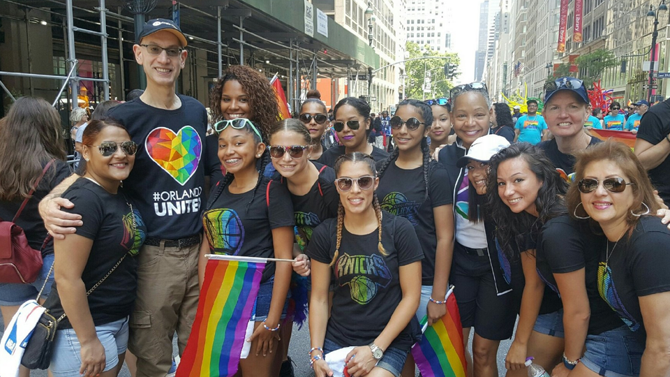 At gay pride parades, large crowds and increased security