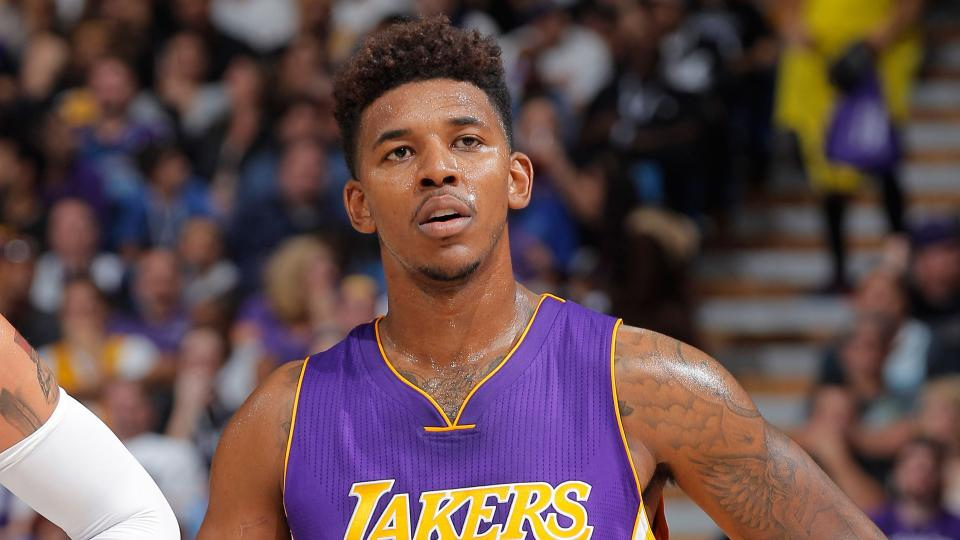 Lakers' Nick Young holds exploding firework in video