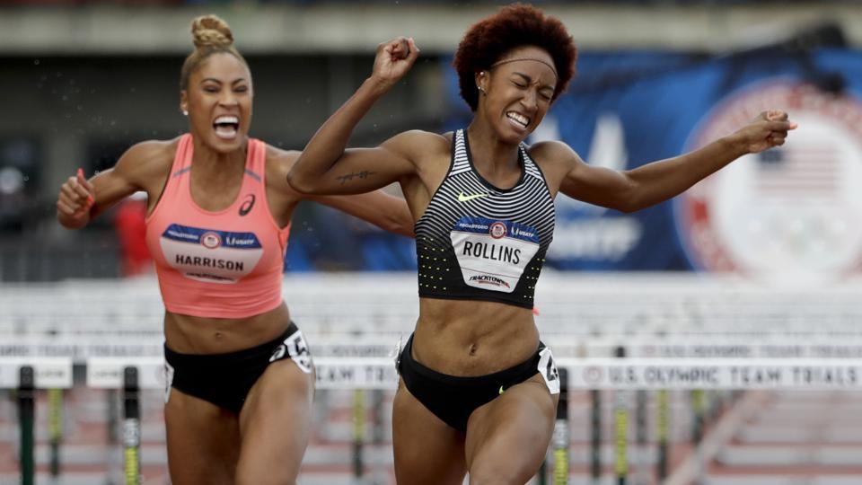Women's 100-Meter Hurdles: Rollins, Castlin, Ali