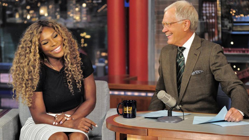 Serena Willliams breaks a window, 'takes the fifth' on Letterman