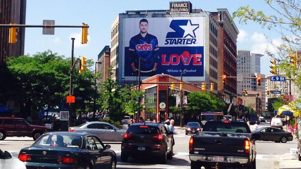 There is already a massive Kevin Love billboard up in Cleveland