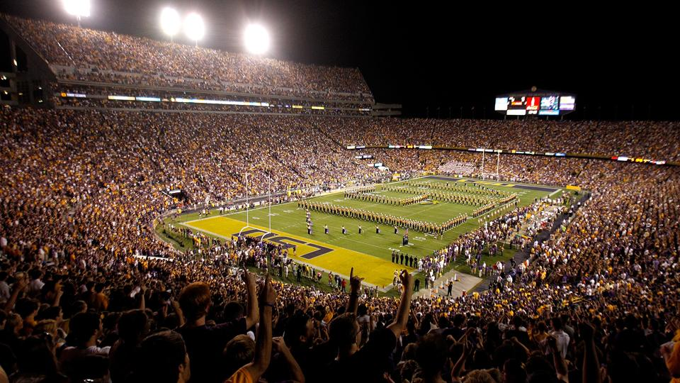 With a capacity of 92,542, Tiger Stadium's roar has helped LSU win 71 percent of its home games.