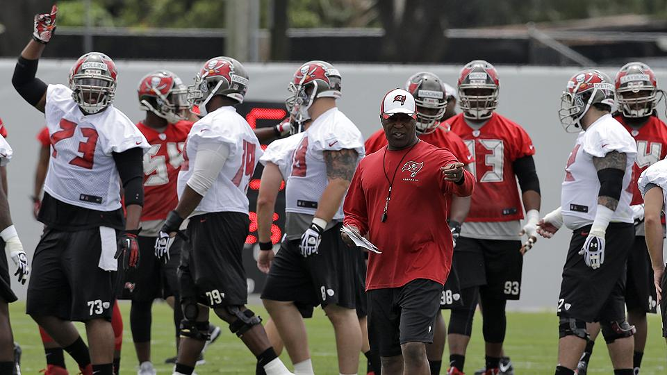 Head coach Lovie Smith may have been the Buccaneers' most important free-agent acquisition.