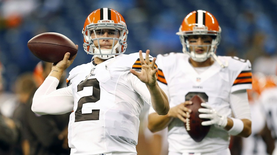 Johnny Manziel, Brian Hoyer deliver up-and-down performances vs. Lions