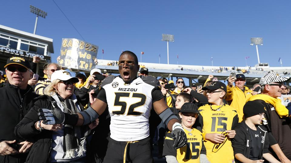 Michael Sam, an All-America and the SEC Defensive Player of the Year, is preparing for the '14 NFL draft.