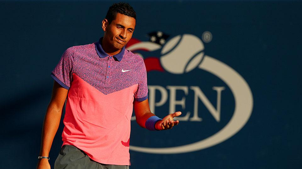 Nick Kyrgios is balling on and off the court, headed to the third round on of the U.S. Open and dropping dollars at New York restaurants.
