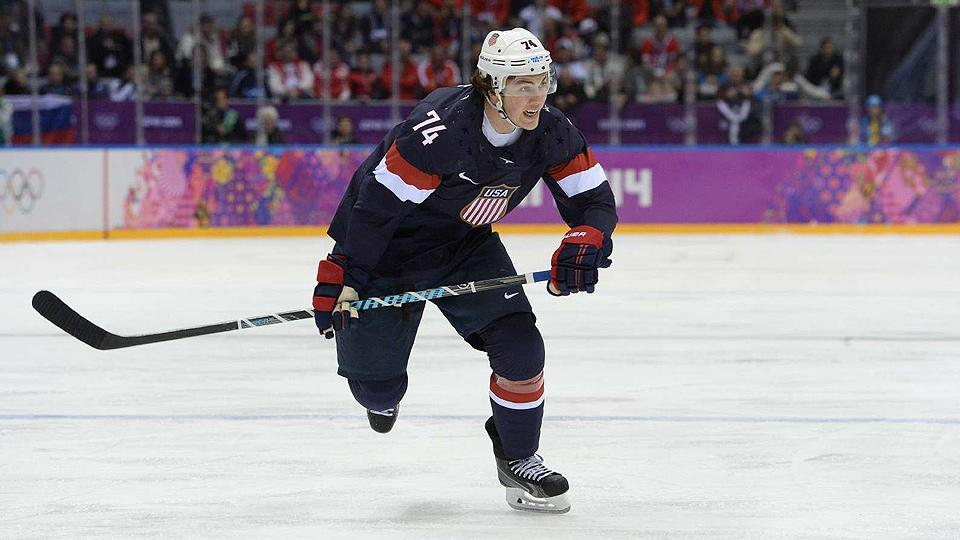 T.J. Oshie showed some deft skills with a hockey stick in Sochi, but those talents didn't follow him to the golf course in Tahoe.