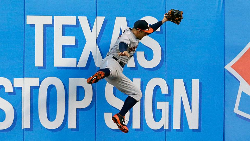 George Springer has shown plenty of defensive acumen to go with his hot bat.