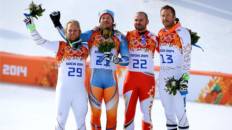 U.S. skiers Bode Miller (right) and Andrew Weibrecht (left) snagged bronze and silver medals, respectively, in the men's Super-G.