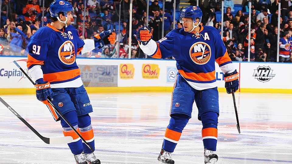 Who gets to play left wing on the Islanders' top line with John Tavares and Kyle Okposo will be one of the most intriguing training camp battles.