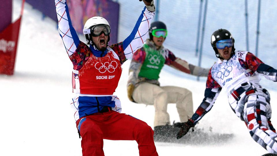 Pierre Vaultier of France won all four of his heats en route to a gold medal in men's snowboard cross.