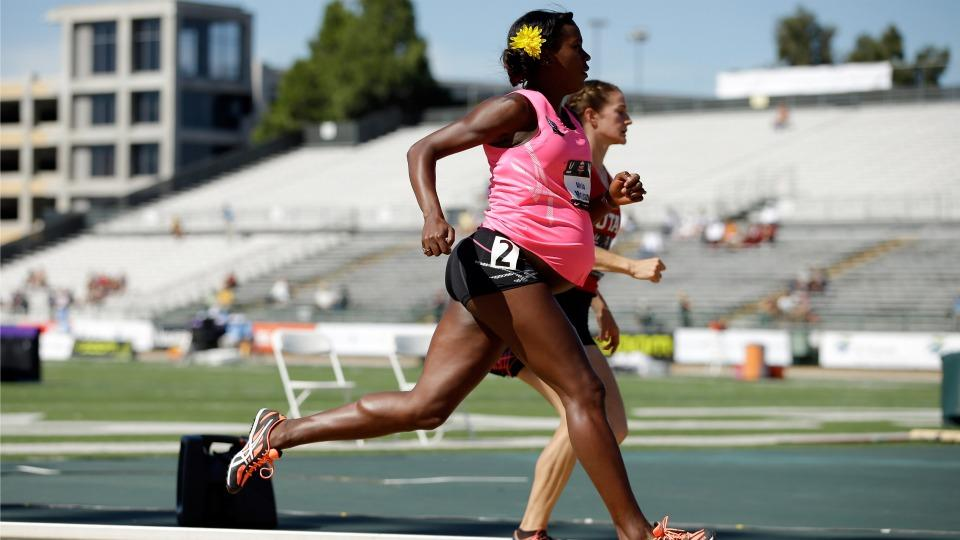 A woman ran the 800m at the US Track and Field Championships while 8 months pregnant