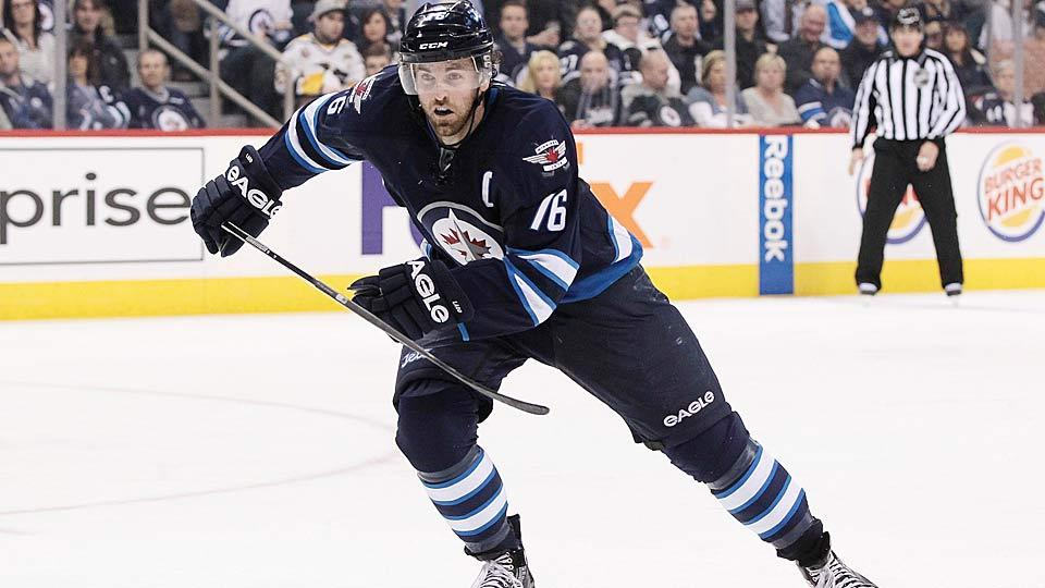 Andrew Ladd is apparently less than thrilled by the Jets' progress—or lack thereof—in beefing up their roster during the off-season.