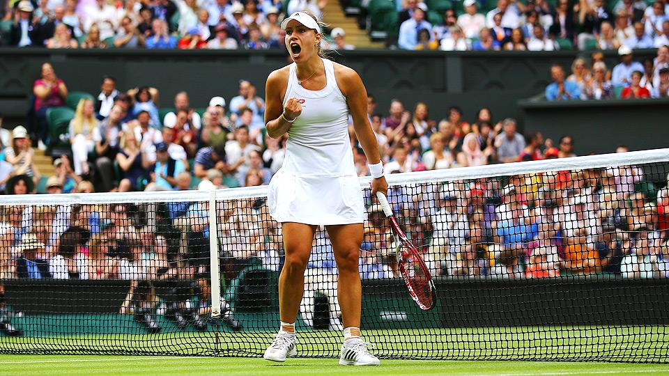 Angelique Kerber's victory over Maria Sharapova is her first win over a top-10 player at Grand Slam.