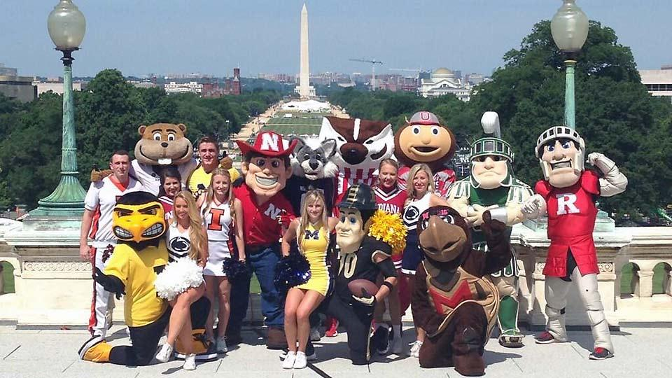 The Big Ten mascots have invaded the nation's capital