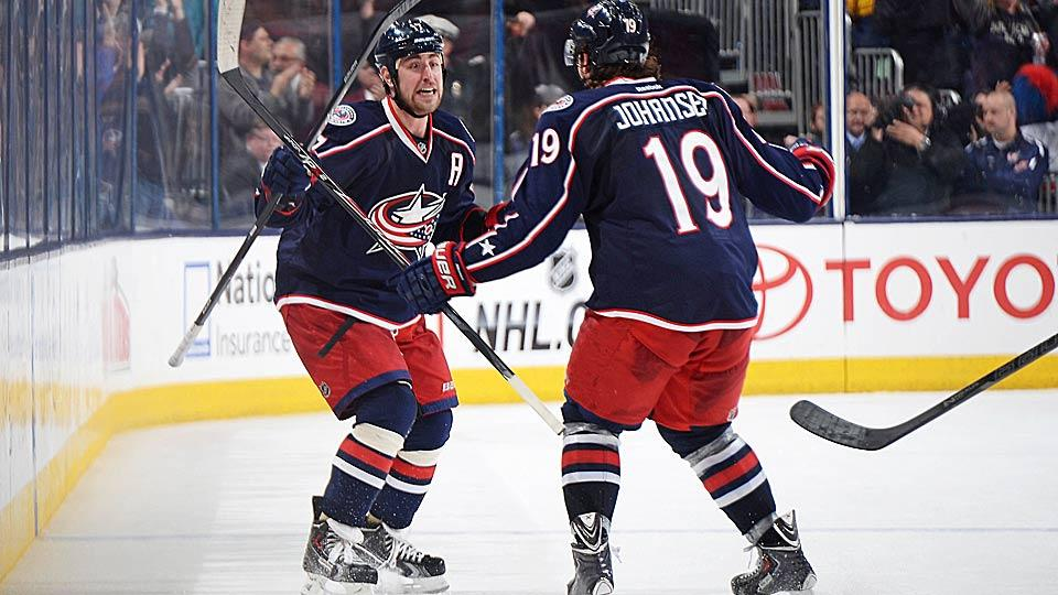 With team leader Brandon Dubinsky (left) locked up for six years, the Blue Jackets and agent Kurt Overhardt are more likely to strike a deal for Ryan Johansen.