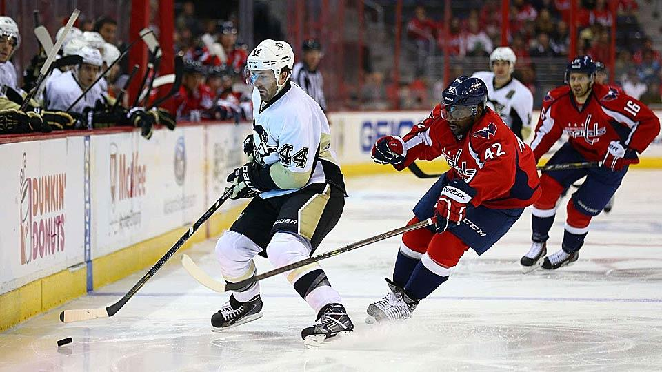 The received wisdom is that 80 percent of free agent deals turn out badly, so the Capitals will likely regret handing ex-Penguins defenseman Brooks Orpik (44) a bundle.