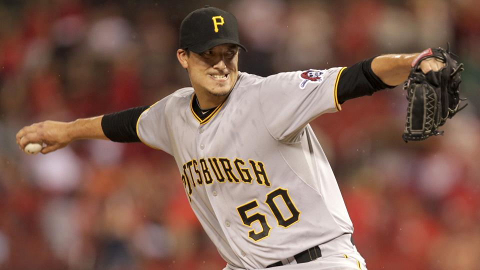 Charlie Morton was twirling a gem against the Cardinals, but had to be pulled late for a pinch hitter with the score at 0-0.