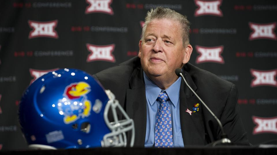 Kansas coach Charlie Weis on playing Missouri: 'They chose to leave'