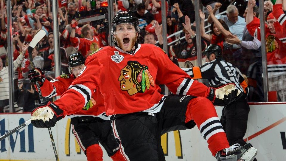 The Blackhawks' Patrick Kane will not be photographed with Blues gear