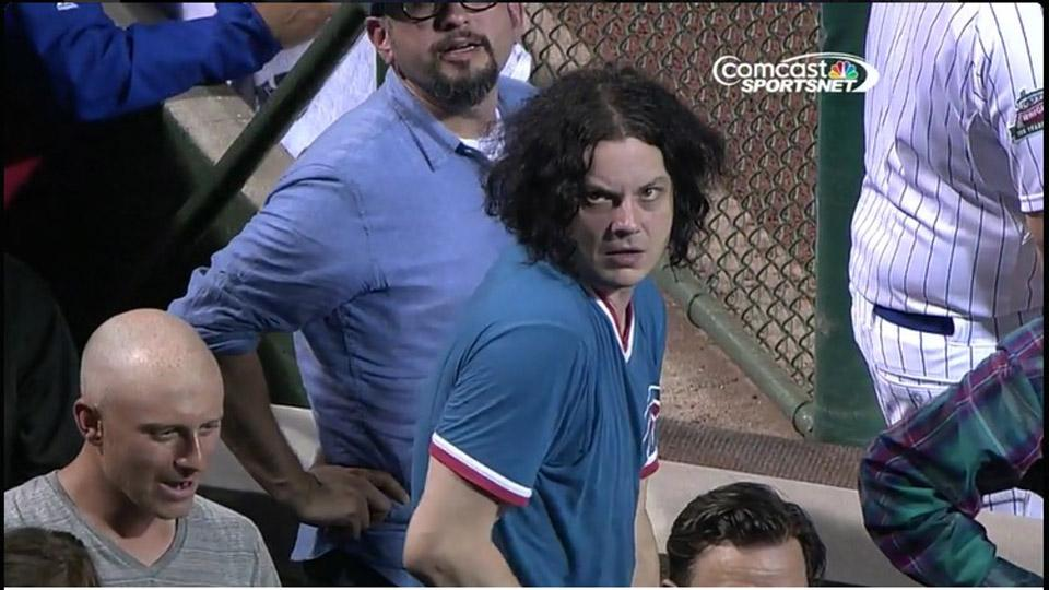 Jack White went to the Cubs game last night and looked miserable