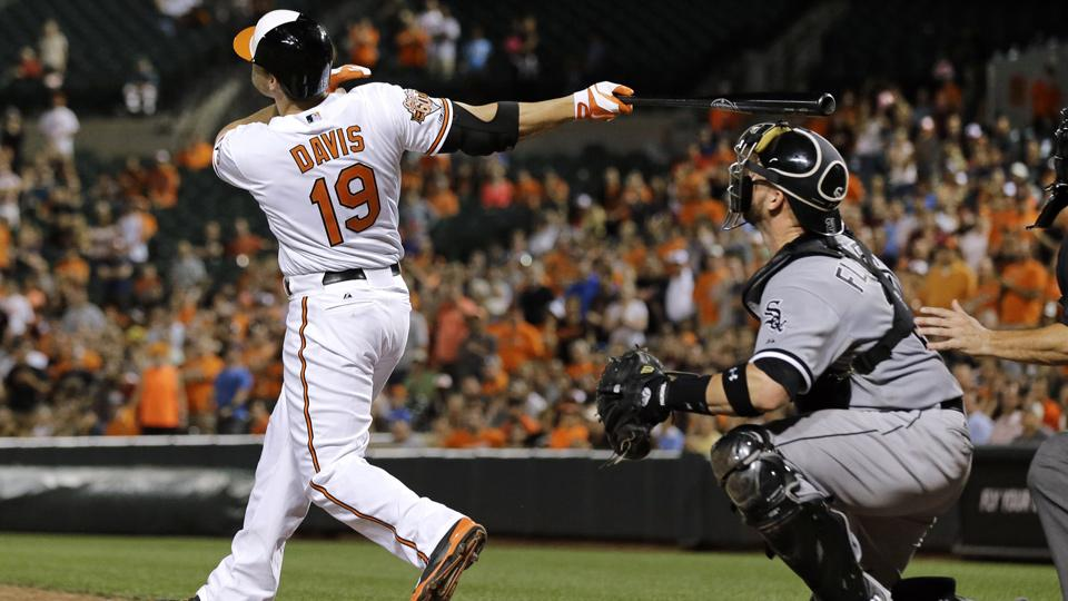 Chris Davis had been scuffling lately before his 13th home run of the season gave the O's a walk-off win.