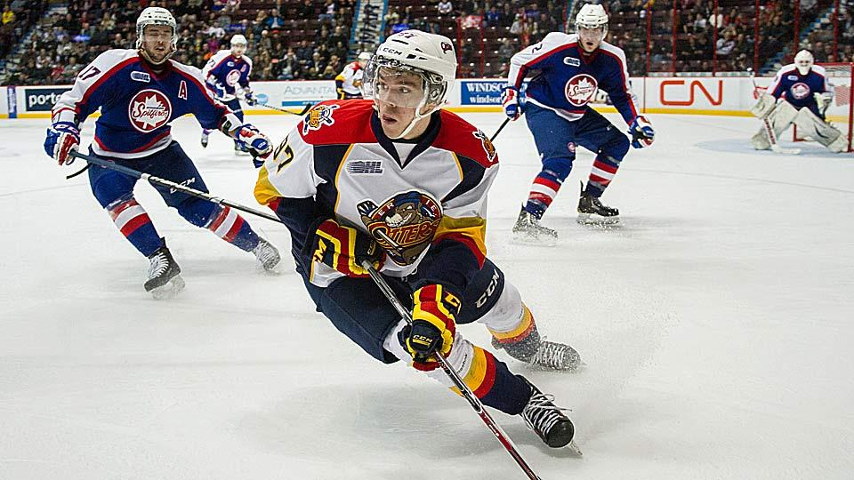Center Connor McDavid of the OHL's Erie Otters is the most highly regarded NHL draft prospect since Sidney Crosby, and will likely be the top pick in next year's draft.